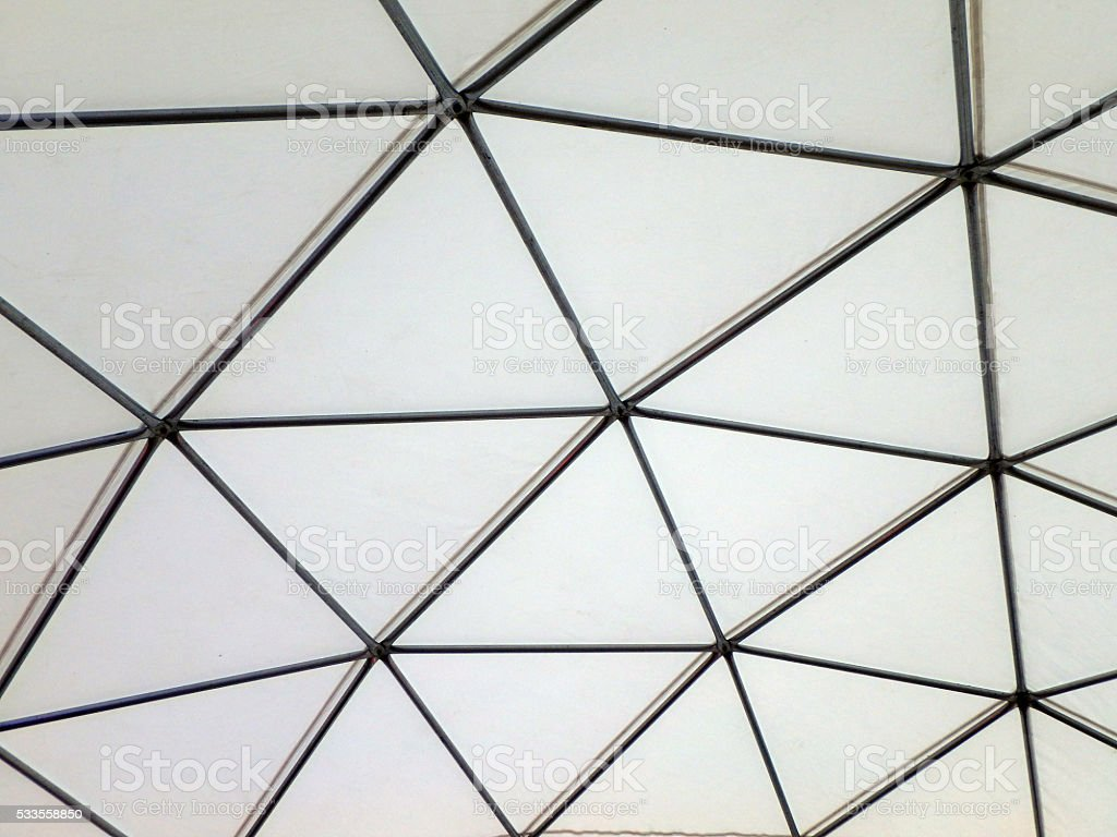 Modern Metal building dome interior stock photo