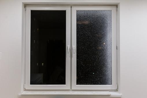 Modern Metal Plastic Window And Door In New Apartment Stock ...