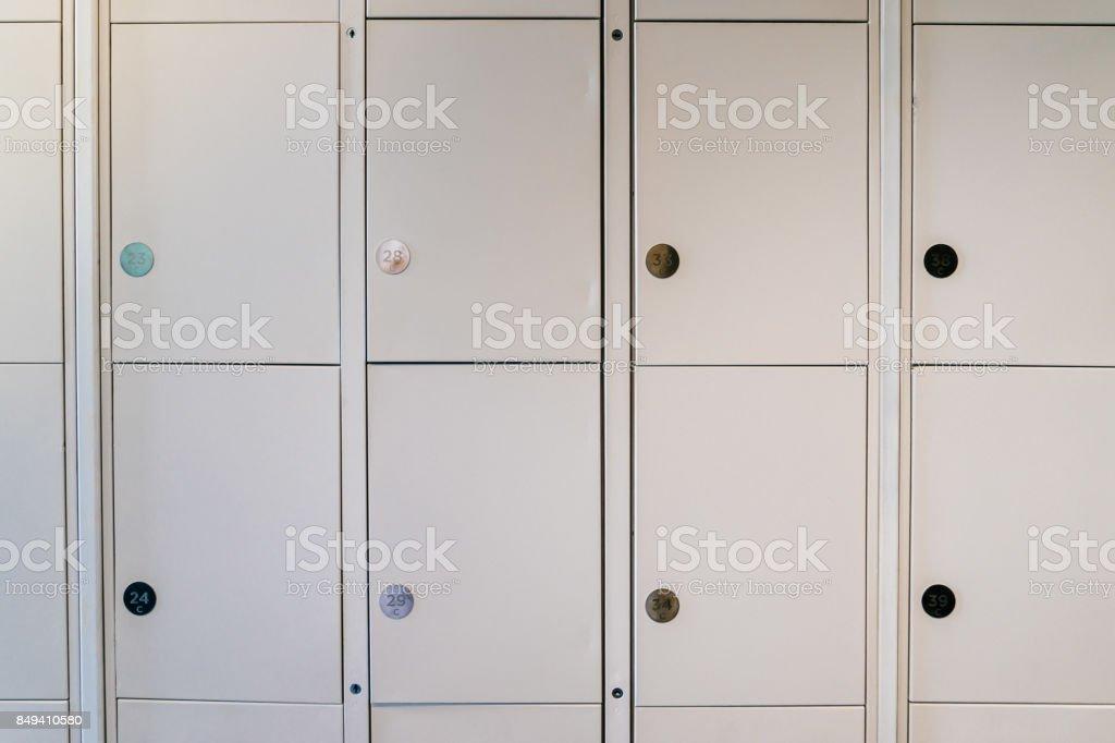 Modern Metel Locker. stock photo
