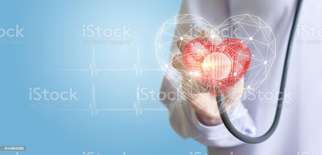 Modern methods of diagnostics of the heart. stock photo