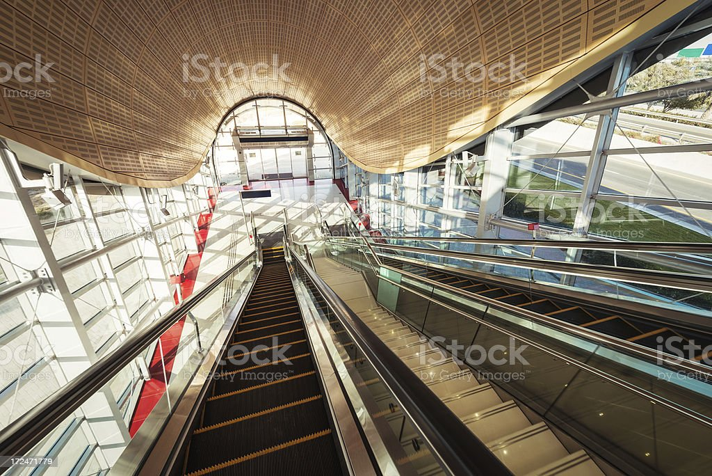 Modern Metro Station royalty-free stock photo