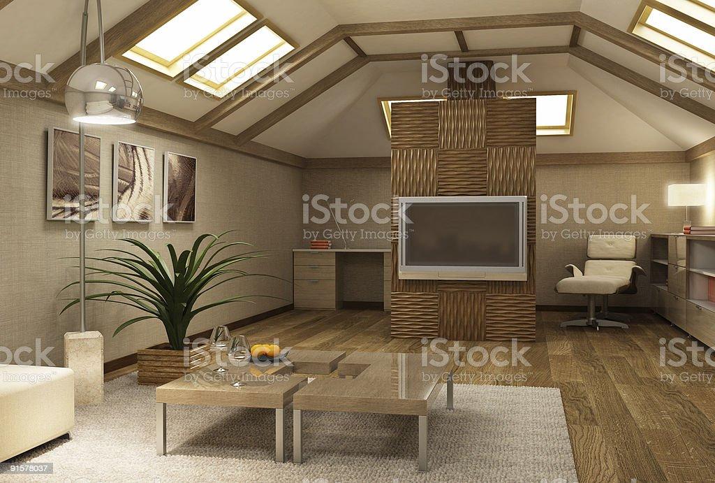 Moderne Interior 3dmezzanine Stockfoto und mehr Bilder von ...