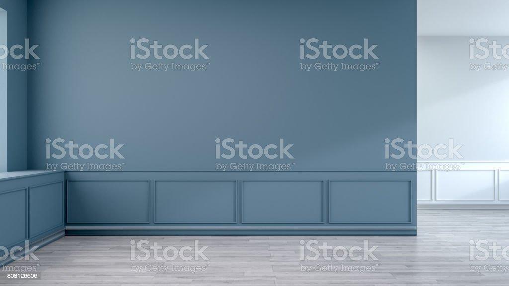 Modern mid Century room interior ,empty space ,3drender stock photo