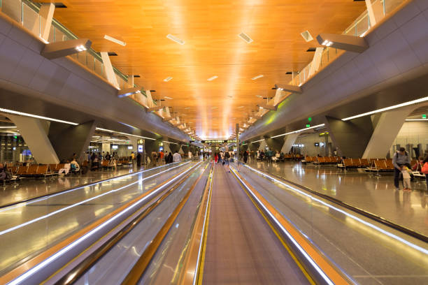 Modern Middle East airport stock photo