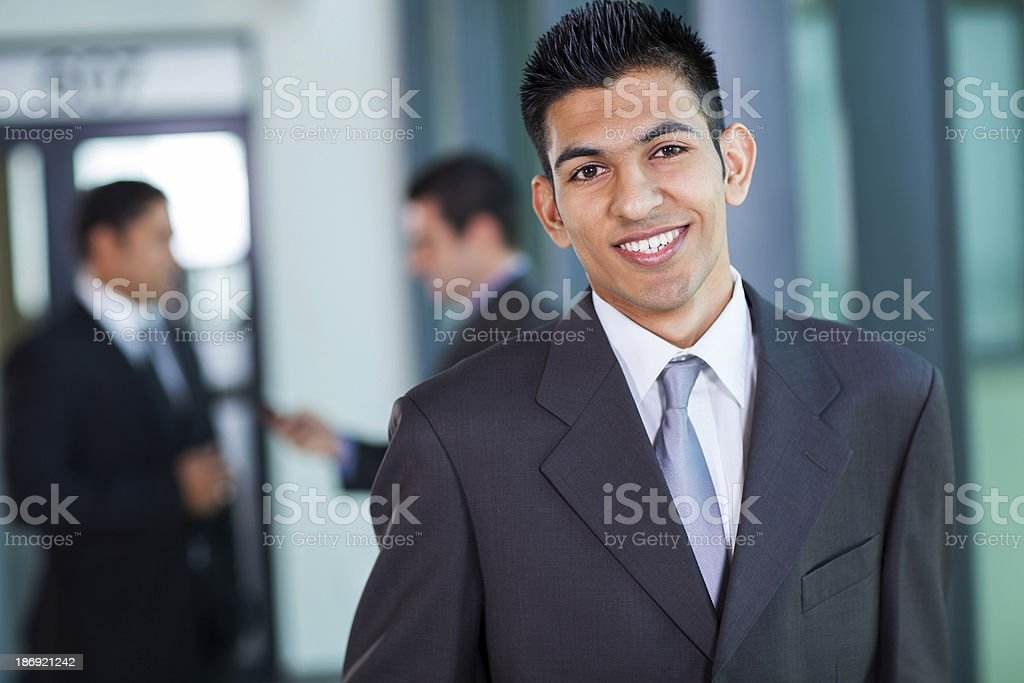 modern middle eastern businessman stock photo