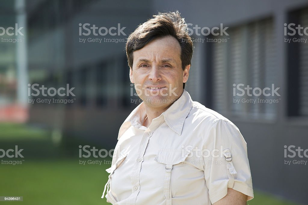 Modern middle-aged man royalty-free stock photo