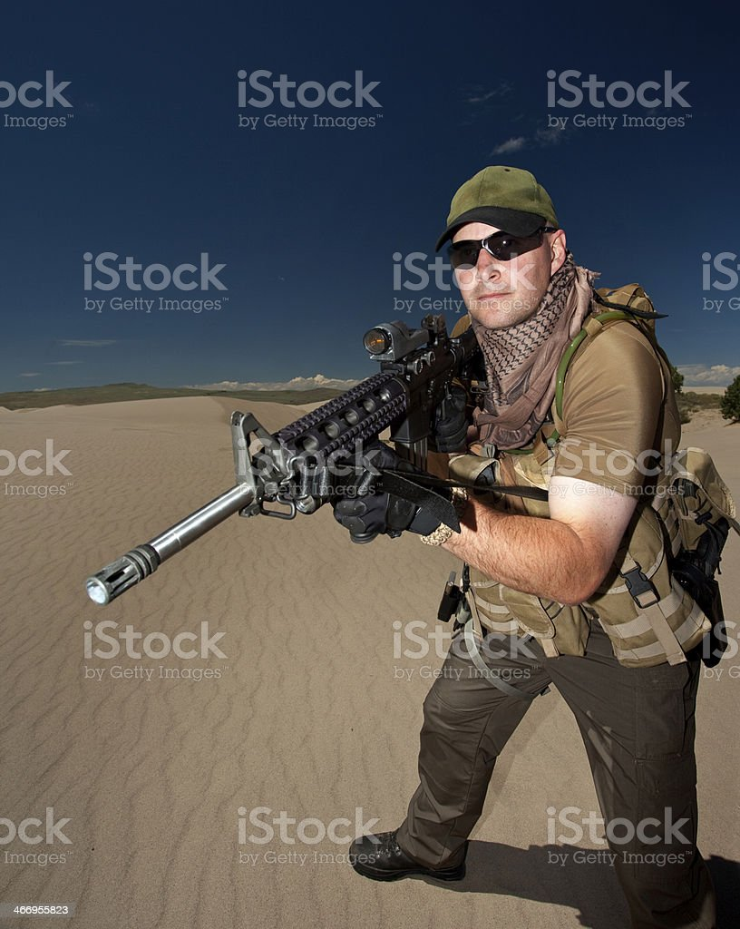 Modern Millitary Soldier royalty-free stock photo