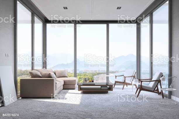 Modern minimalist living room with panoramic ocean view picture id842374074?b=1&k=6&m=842374074&s=612x612&h=kjforymgdwwduspj23qelmqrfzfa3ran0gn1sapnl5e=