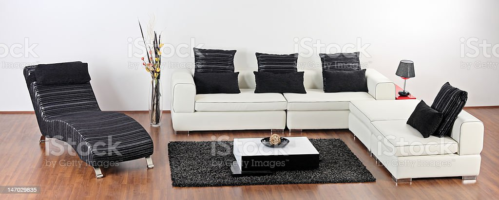 Modern minimalist living-room royalty-free stock photo
