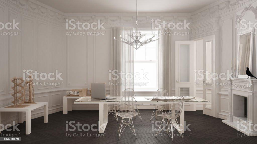 Photo libre de droit de Bureau Minimaliste Moderne En Chambre ...