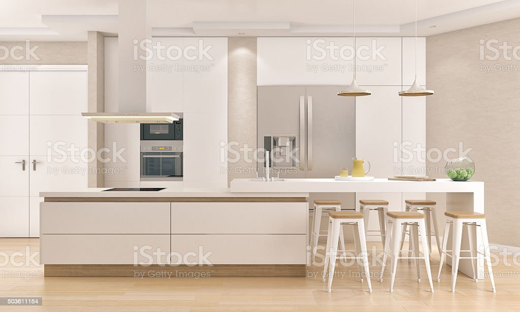 Modern minimalistic kitchen stock photo