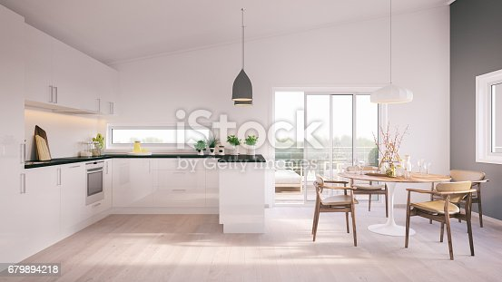 istock Modern minimalistic kitchen 679894218