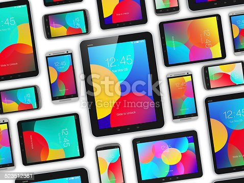 istock Modern mobile devices 523512361