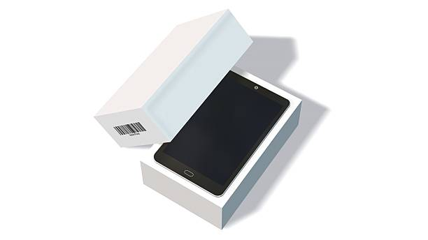 Modern mobile phone in the packaging - unboxing – Foto