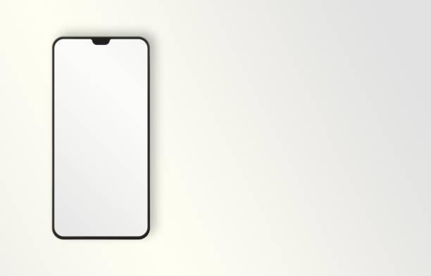 Modern Mobile Phone on White Background stock photo