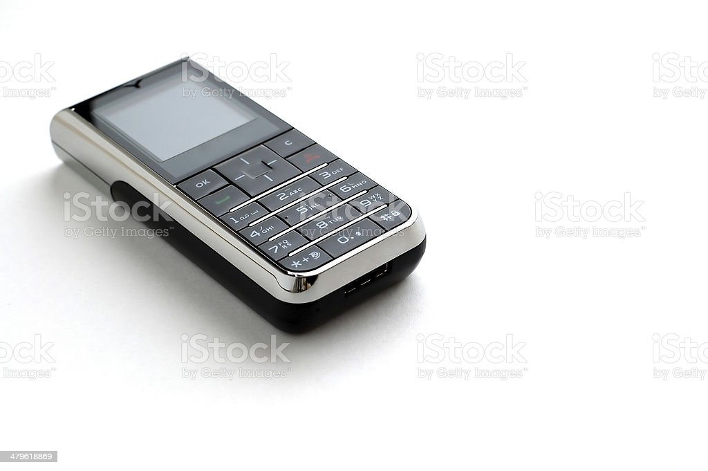 Modern mobile phone with white background stock photo