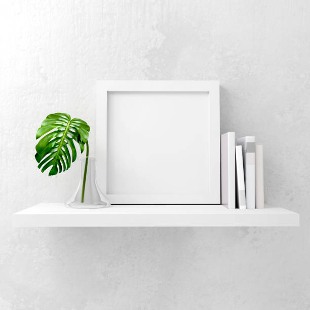 modern mock up frame - square stock pictures, royalty-free photos & images
