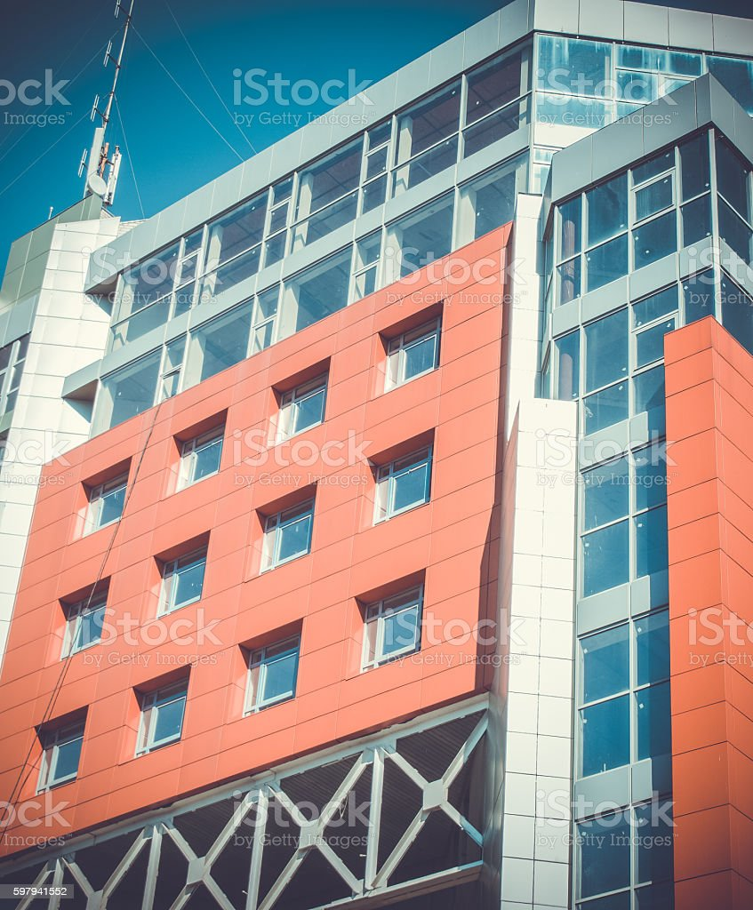 Modern Modernistic Red Building foto royalty-free