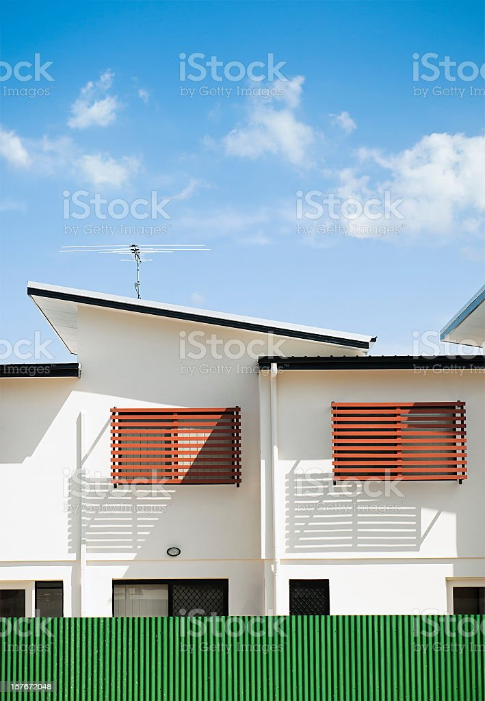 Modern Motel Building Abstract stock photo
