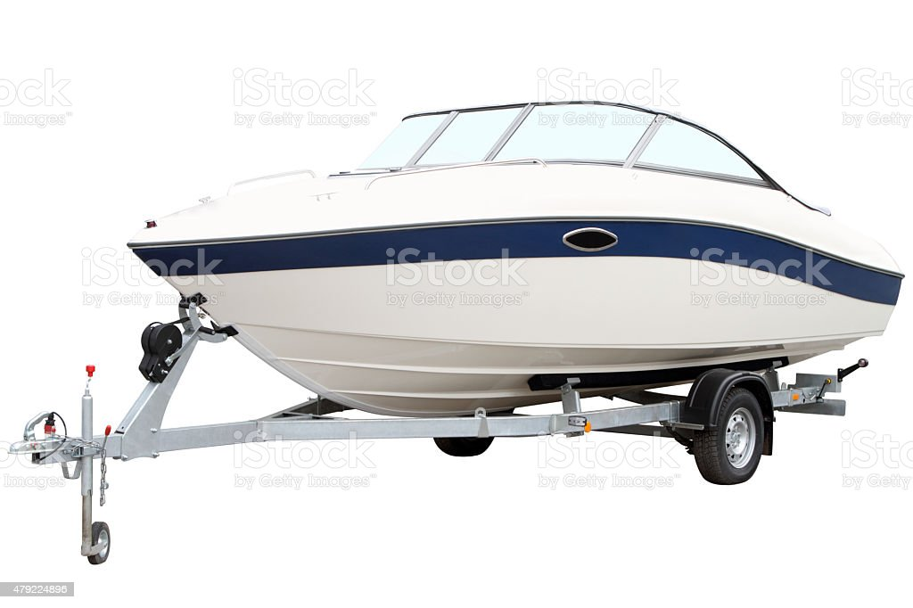 Modern motor boat stock photo