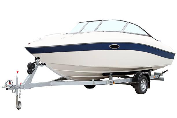 Modern motor boat stock photo