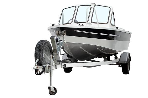 Modern motor boat. stock photo