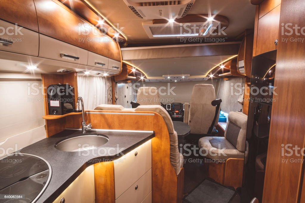 Modern motorhome on the inside – Foto