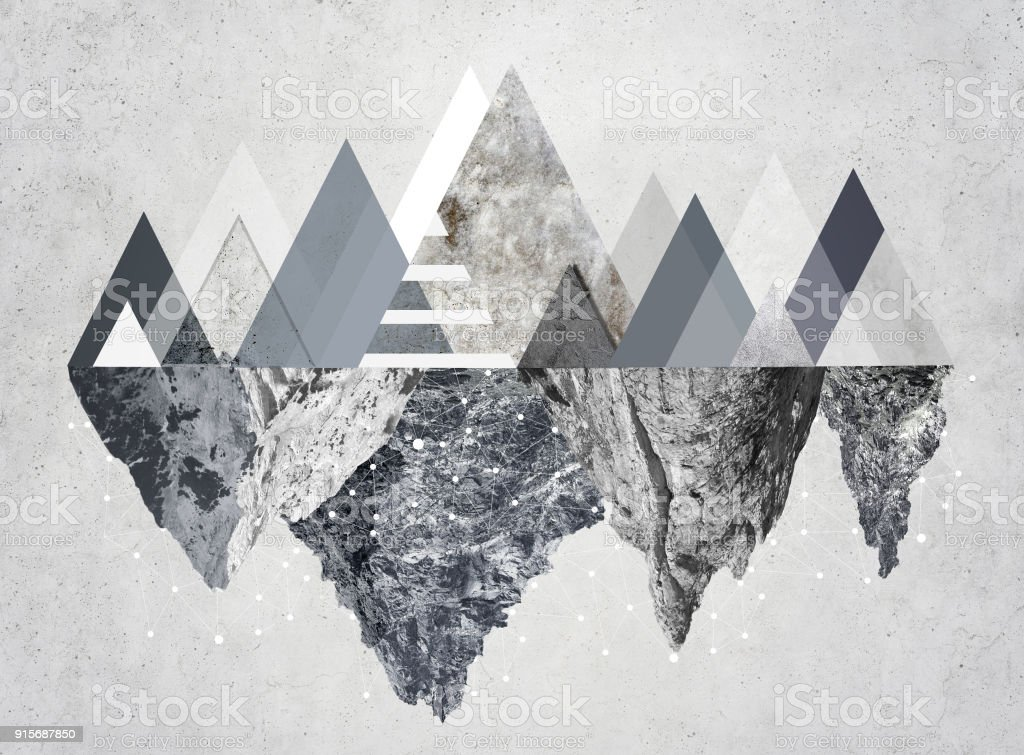 Modern mountain image stock photo