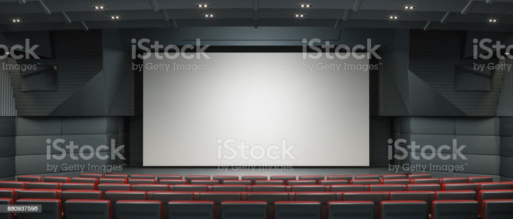 Modern Movie Thearter stock photo