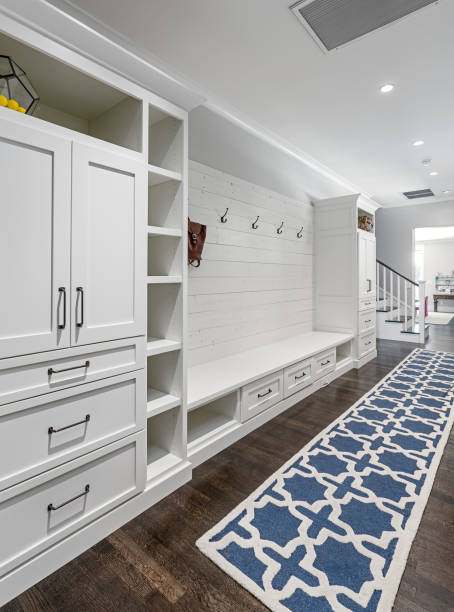 modern mud room - mud stock photos and pictures