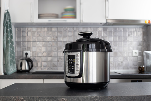 Modern multi cooker in the kitchen