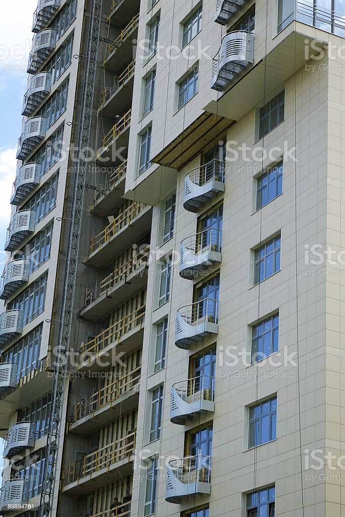 Modern multi-apartments building construction royalty-free stock photo