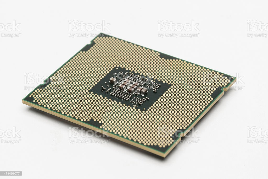 Modern multicore CPU stock photo