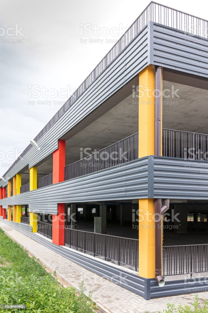 Modern Multilevel Car Parking Stock Photo Download Image Now Istock