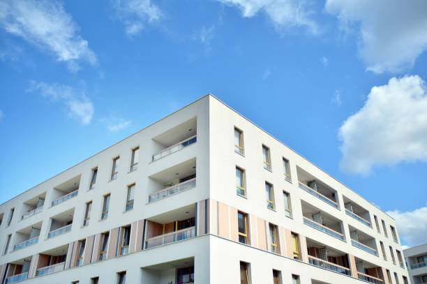 Modern multi-storey luxury housing concept stock photo