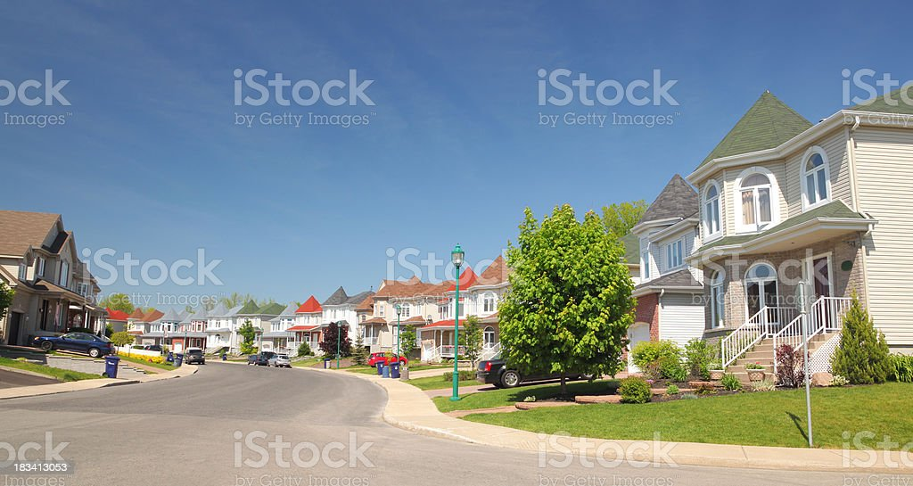 Modern Neighborhood royalty-free stock photo