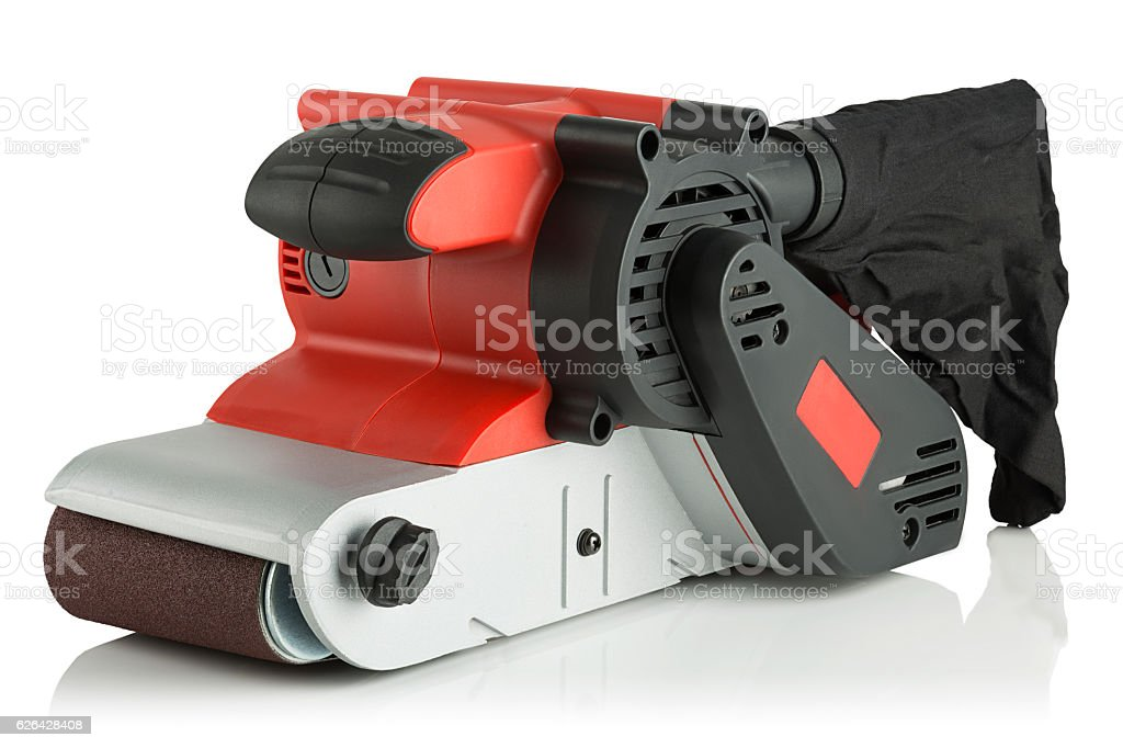 modern new belt sander stock photo