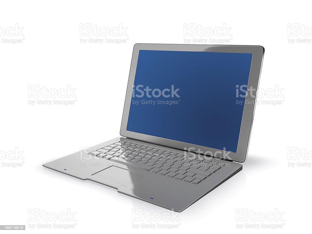Modern new laptop stock photo
