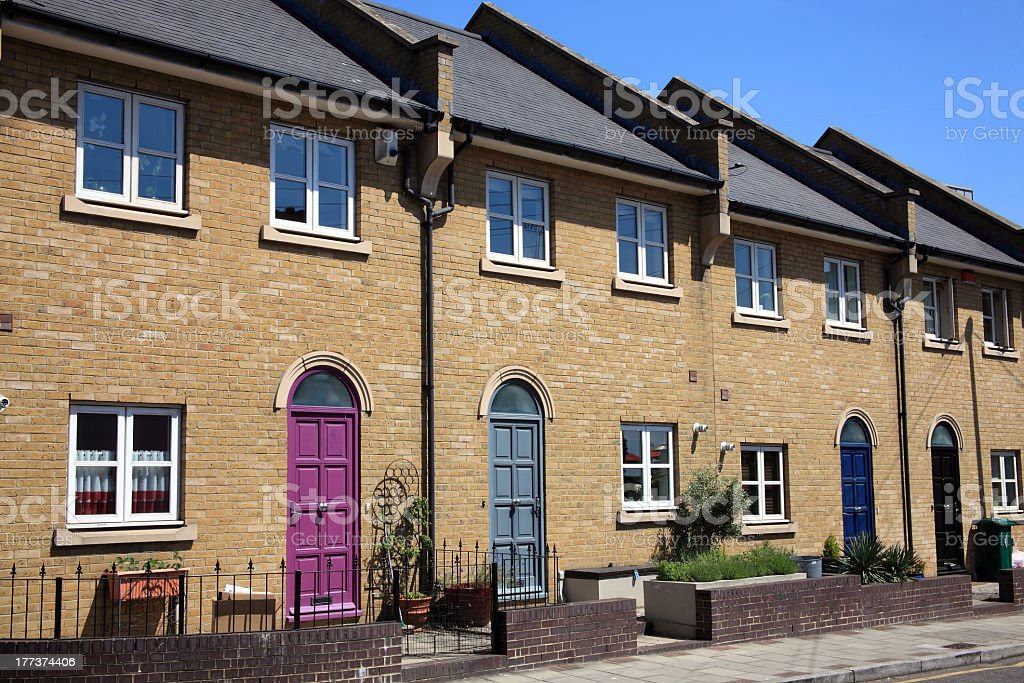 Modern New Terraced Houses stock photo