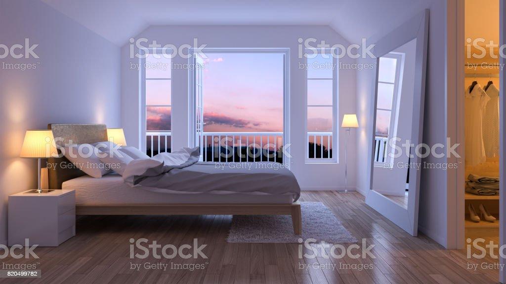 Modern night bedroom
