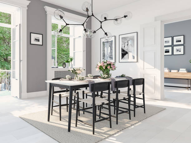 Modern nordic dining room in loft apartment 3d rendering picture id931168508?b=1&k=6&m=931168508&s=612x612&w=0&h=m1tuafmcr ncu48t9omews8iekd5gp1gxq0csgpefdm=