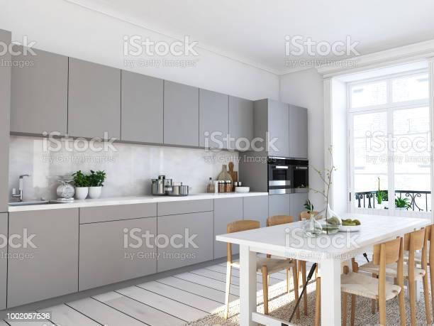 Modern nordic kitchen in loft apartment 3d rendering picture id1002057536?b=1&k=6&m=1002057536&s=612x612&h=nnpodxfboi teth6hkkqy7pll2jmagon2umt265rekk=