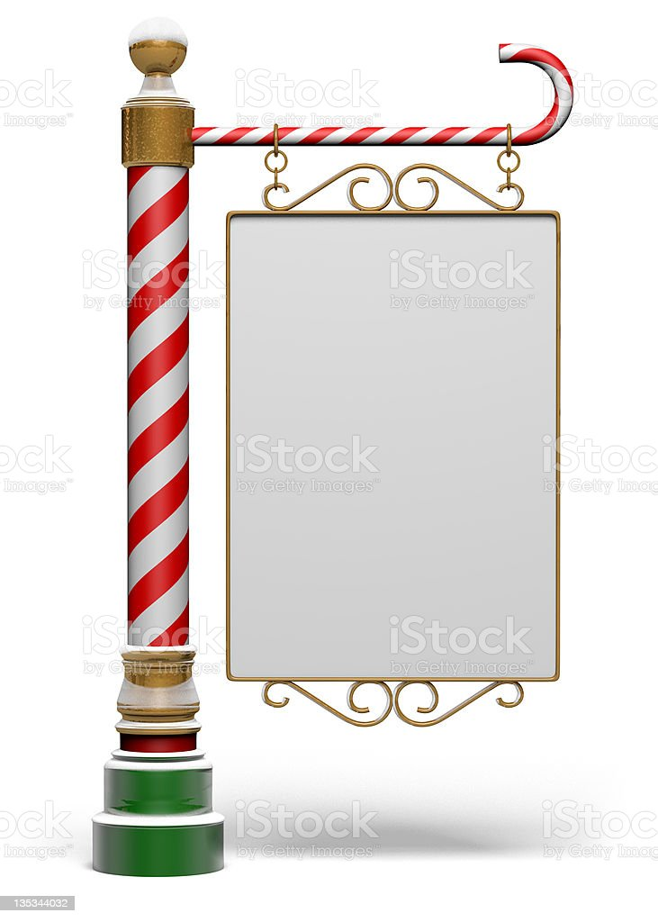 A modern North Pole sign for Christmas stock photo