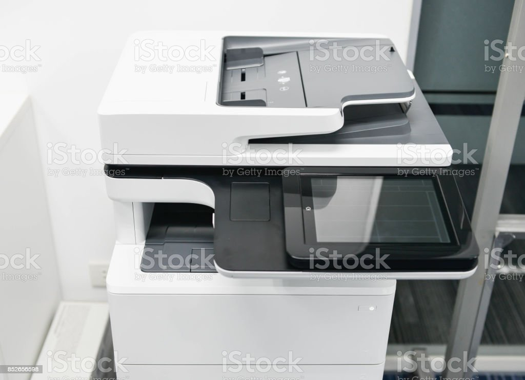 Modern of multifunction laser printer stock photo
