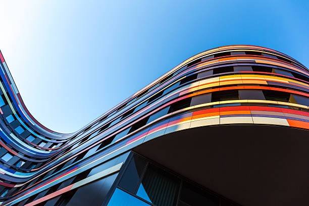 modern office architecture - multi colored stock pictures, royalty-free photos & images
