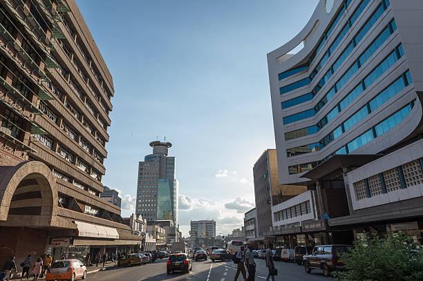 Modernen office-blocks in der Innenstadt von Harare, Simbabwe – Foto