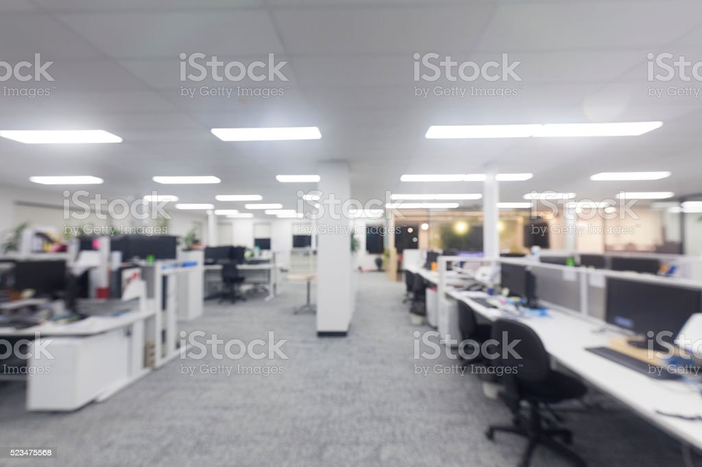 Modern office blur stock photo
