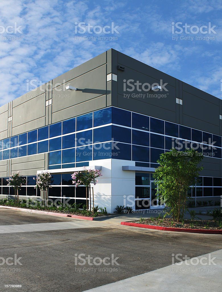 A modern office building against blue sky royalty-free stock photo
