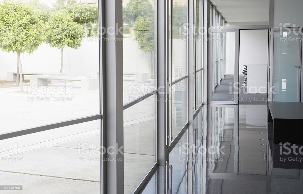 Modern office building and courtyard royalty-free stock photo