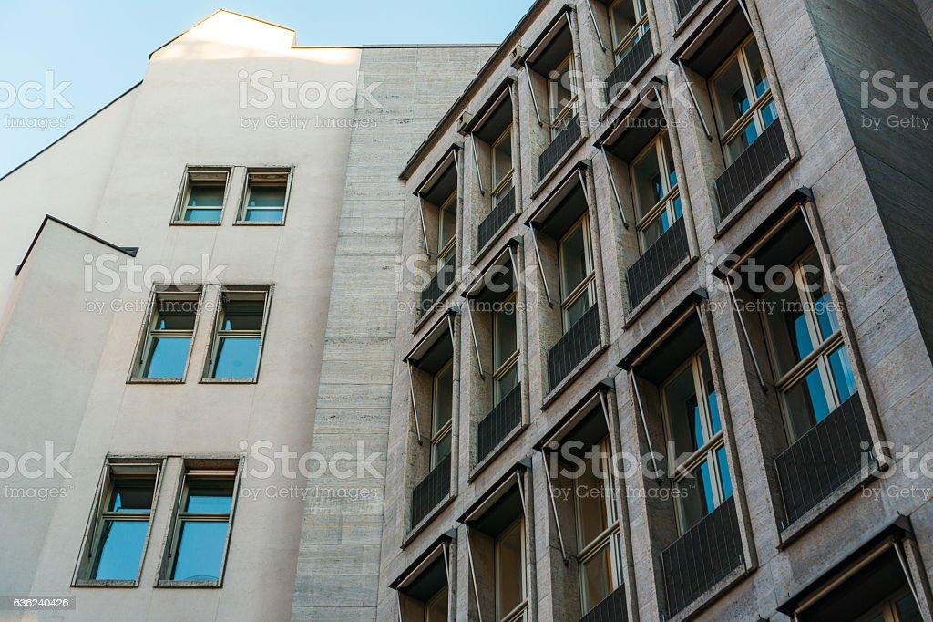 modern office building at potsdamer platz stock photo
